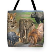 Africa's Big Five Tote Bag