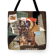 Afro Collage B Tote Bag by Everett Spruill