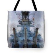 Aft Turret 3 Uss Iowa Battleship Photoart 01 Tote Bag