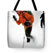 After An Afternoon Of Ice Climbing, Two Tote Bag