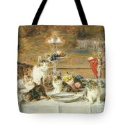 After Dinner Guests Tote Bag by Louis Eugene Lambert