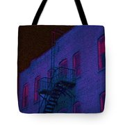 after hours glow -Seurat Style Tote Bag