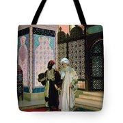 After Prayers At The Mosque Tote Bag by Rudolphe Ernst