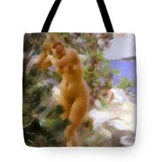 After The Bath 2 Tote Bag