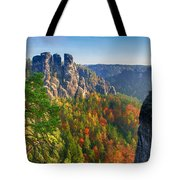 After The Sunrise On The Bastei Tote Bag