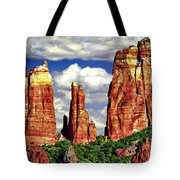 Afternoon Cathedral Rocks Saddle View Red Rock State Park Sedona Arizona Tote Bag