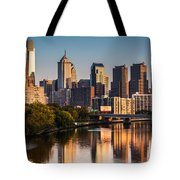 Afternoon In Philly Tote Bag