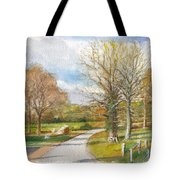 Afternoon In The Auvergne Countryside In Central France Tote Bag
