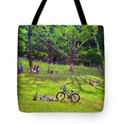 Afternoon In The Park With Friends Tote Bag