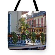 Afternoon On The Balcony Tote Bag