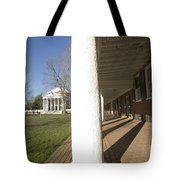Afternoon Shadows Spread Across The Dorms Rooms Along The Lawn Tote Bag
