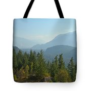 Afternoon Smoke At The Tantalus Mountains Tote Bag