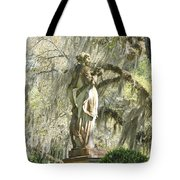 Afton Plantation Villa Statuary Tote Bag