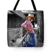 Against The Fence Tote Bag