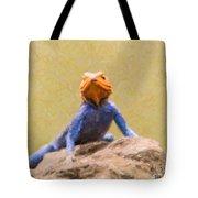 Agama Lizard On Rock Tote Bag
