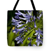 Agapanthus Flower And Bee Tote Bag