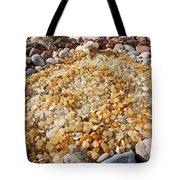 Agate Rock Garden Art Prints Coastal Beach Tote Bag by Baslee Troutman