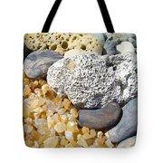 Agate Rock Garden Design Art Prints Coral Petrified Wood Tote Bag by Baslee Troutman