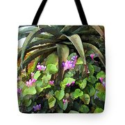 Agave And African Violets Tote Bag