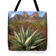 Agave And The Chisos Mountains Tote Bag