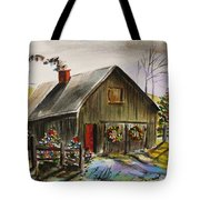 Aged And Decorated Tote Bag