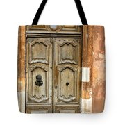 Aged Door In Provence Tote Bag