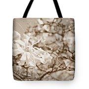 Antique Magnolia Bloom Tote Bag