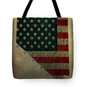 Aged Topographic Map Of Nevada Tote Bag
