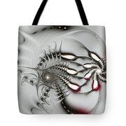 Aggressive Grey Tote Bag by Anastasiya Malakhova