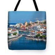 Agios Nikolaos Town Tote Bag