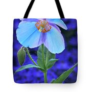 Aglow In Blue Tall View Tote Bag