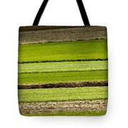 Agriculture Layers Fields And Meadows Tote Bag