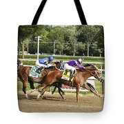 Ahead By A Nose Tote Bag