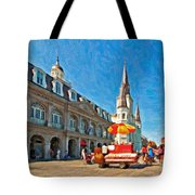 Ahh...new Orleans Impasto Tote Bag by Steve Harrington