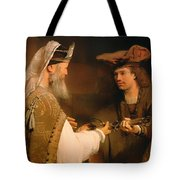 Ahimelech Giving The Sword Of Goliath To David Tote Bag