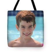 Aidan At The Pool Tote Bag