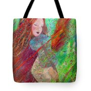 Aiden The Girl On Fire Tote Bag by The Art With A Heart By Charlotte Phillips