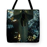 Air To Air Refueling At Night Tote Bag