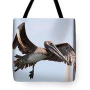 Airborne Brown Pelican Tote Bag