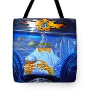 Airbrush Magic - Wizard Merlin On A Motorcycle Tote Bag by Christine Till