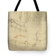 Aircraft The Machine Has Been Reduced To The Simplest Shape Tote Bag