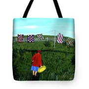 Airing Grandmother's Quilts Tote Bag