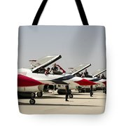 Airmen Conduct Preflight Preparations Tote Bag by Stocktrek Images