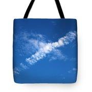 Airplane Cloud Tote Bag