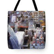 Airplane Cockpit Photo Art Tote Bag