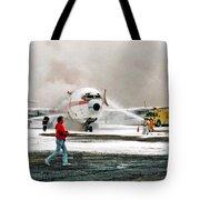 Airplane Crash Drill Landscape Tote Bag