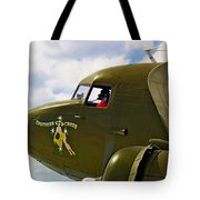 Airplane Named Southern Crosss Tote Bag