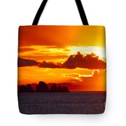 Airplane Over An Island In Newfoundland Tote Bag