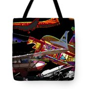 Airplanes Collage  Tote Bag