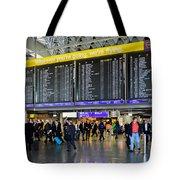 Airport Departure Board Frankfurt Germany Tote Bag